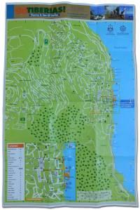 Mapa Tiberias
